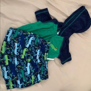 Other - Blue and green swim shorts and jacket